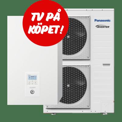 Sverigepumpen kompakt luft vatten värmepump tv på köpet